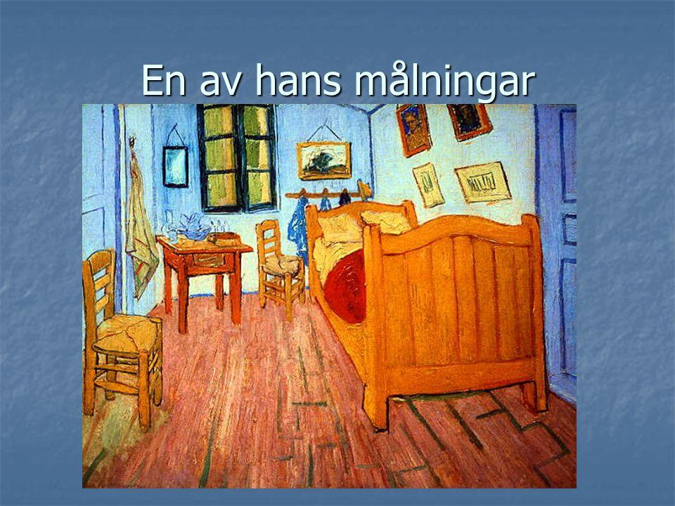En av hans målningar