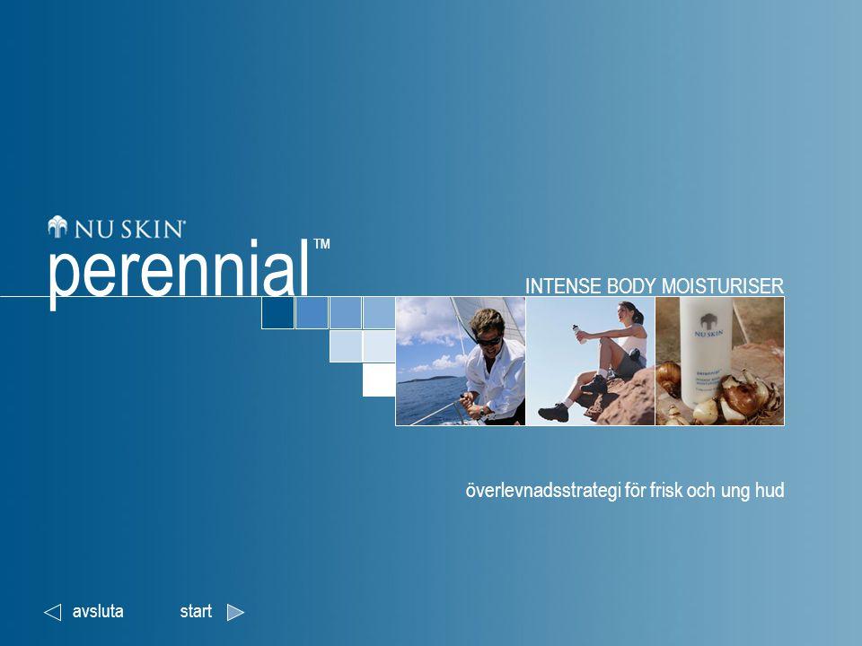 INTENSE BODY MOISTURISER överlevnadsstrategi för frisk och ung hud avslutastart perennial ™