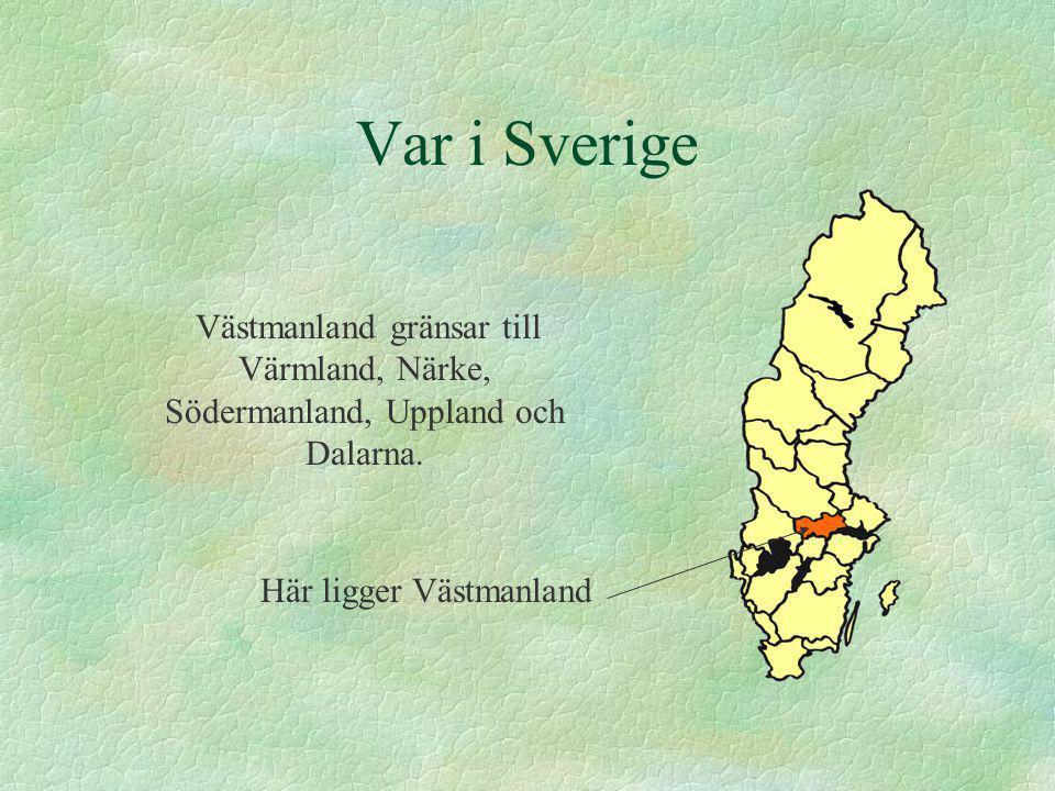 Städer Västerås är Västmanlands största stad.Den ligger vid Mälaren.