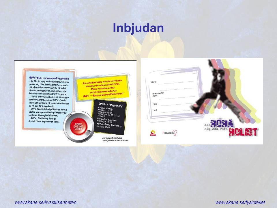 www.skane.se/livsstilsenhetenwww.skane.se/fysioteket Vem får skriva ut receptet.