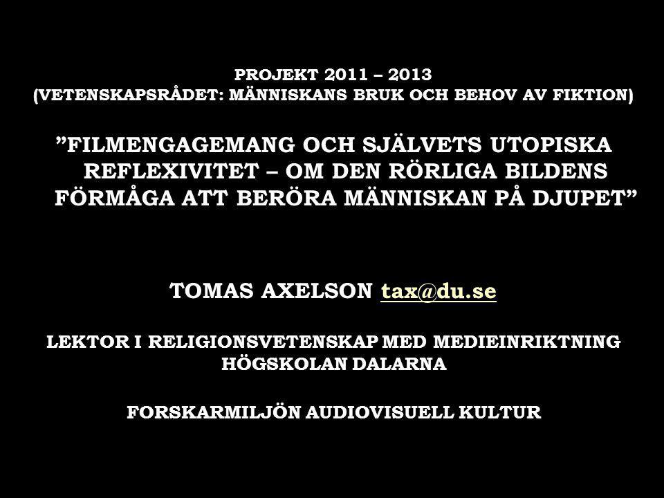 1. Filmens roll i det svenska samhället 1. Filmens roll i det svenska samhället