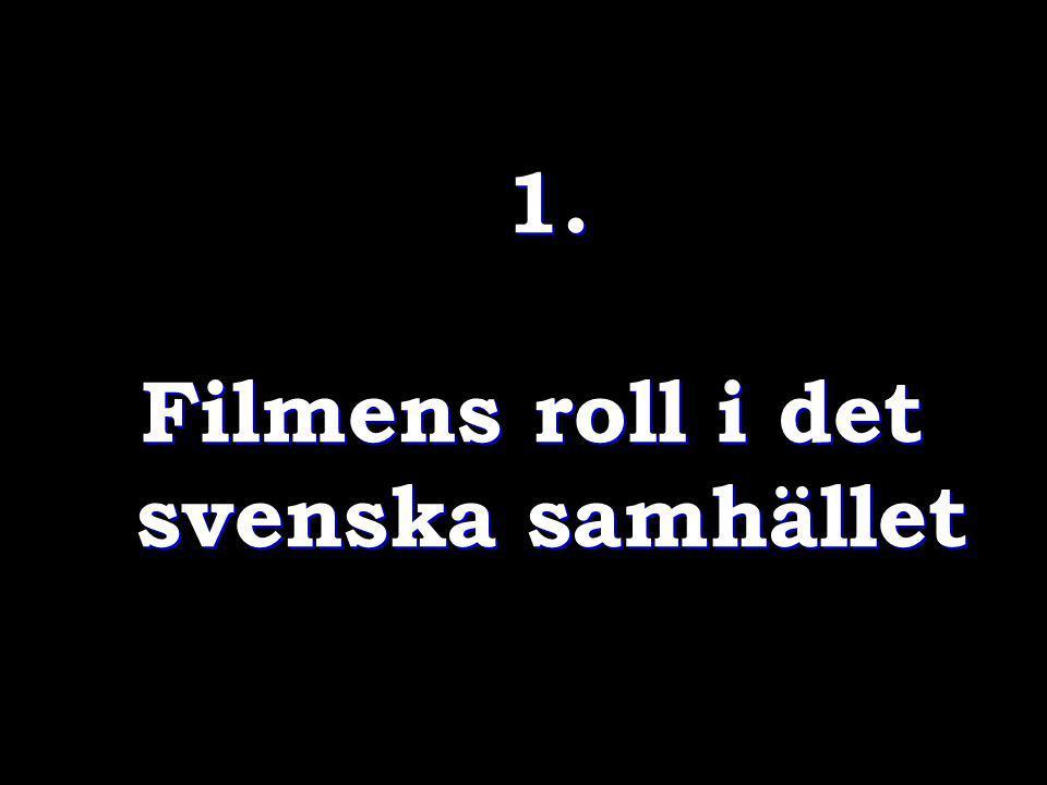 ANNA SERNER, VD Svenska filminstitutet, intervjuad i FLM NR 13/14 2011: Konstart och kulturyttring Vi behöver kultur för att vi ska tänka bättre … få ny perspektiv på den samtid vi lever i.