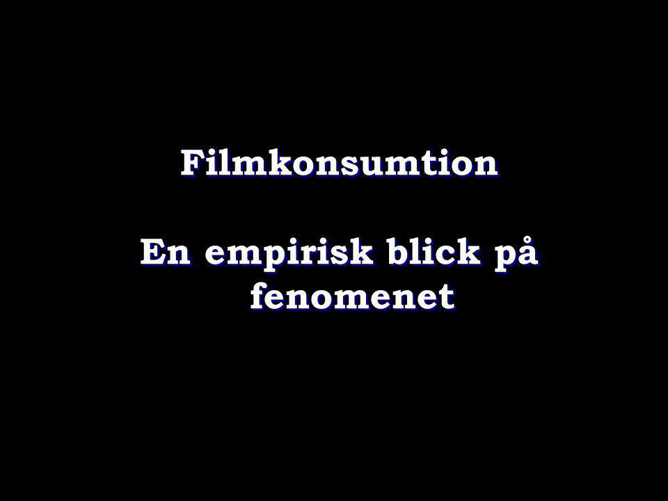 Filmkonsumtion En empirisk blick på fenomenet Filmkonsumtion En empirisk blick på fenomenet
