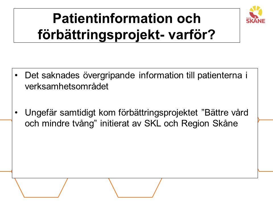 Förbättringsprogram Bättre vård-mindre tvång 20110406-1208 En av vårdavdelningarna nominerades ; orsak: statistik tvångsåtgärder