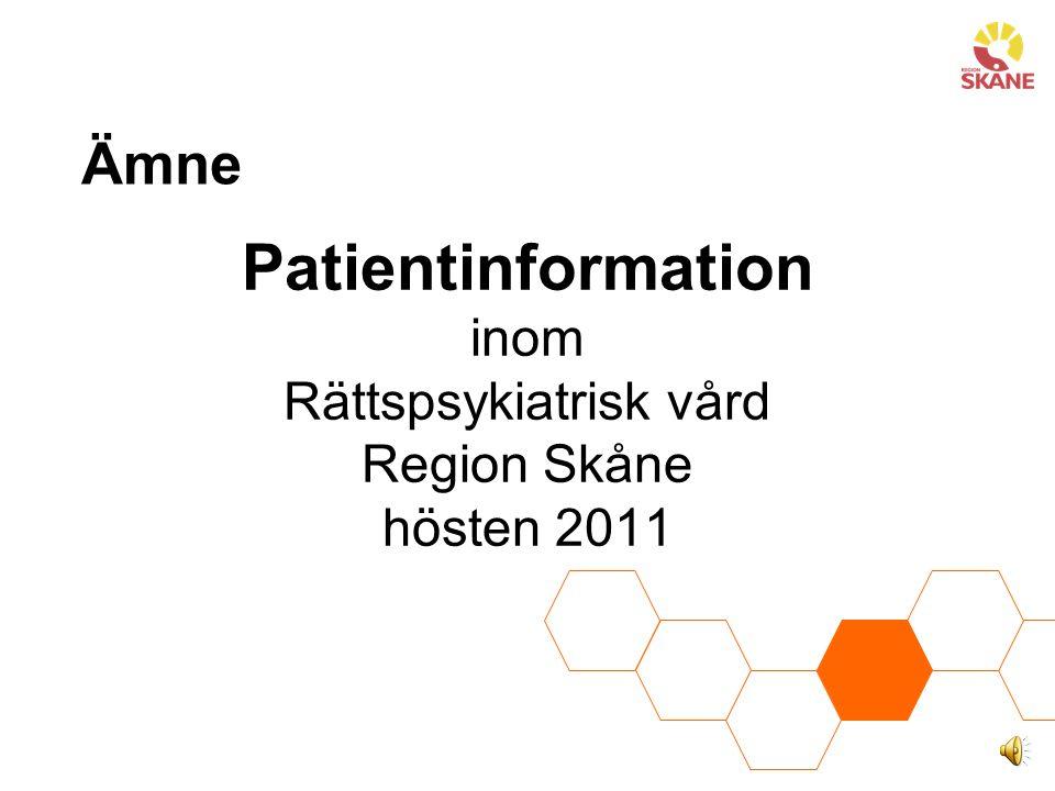 Metod: Behovsanalys Mål: Hur ska vi veta- Vad vill (behöver) patienterna veta.