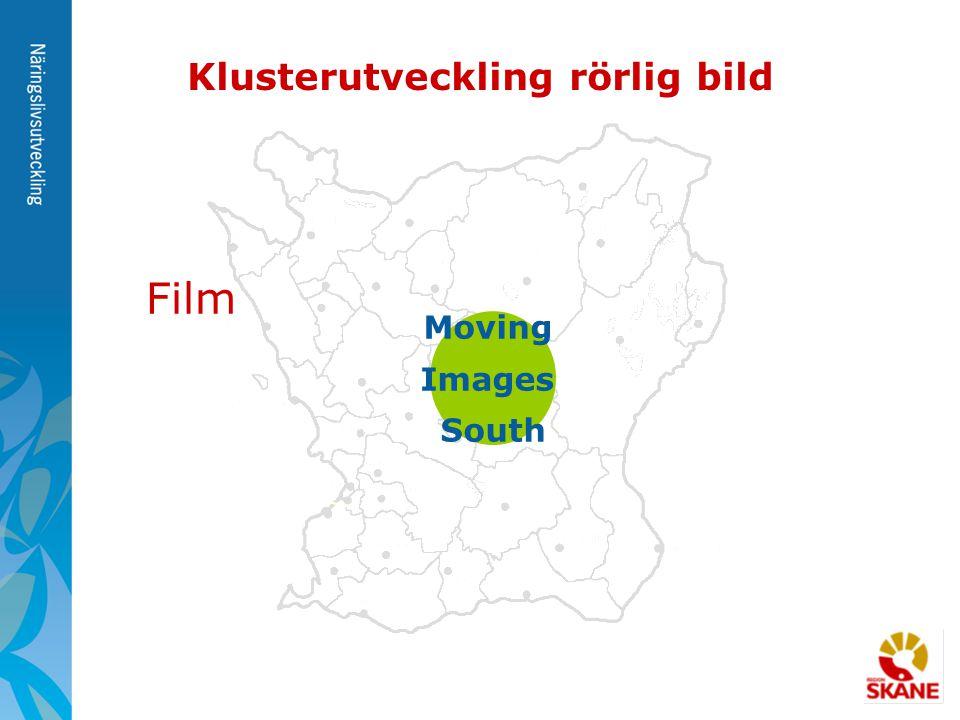 Moving Images South Klusterutveckling rörlig bild Film