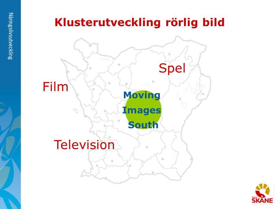 Moving Images South Klusterutveckling rörlig bild Film Television Spel