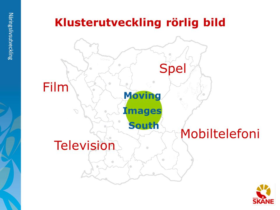 Moving Images South Klusterutveckling rörlig bild Film Television Spel Mobiltelefoni