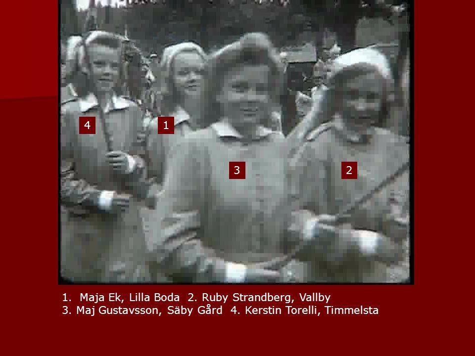 1 2 1.Maja Ek, Lilla Boda 2. Ruby Strandberg, Vallby 3. Maj Gustavsson, Säby Gård 4. Kerstin Torelli, Timmelsta 3 4