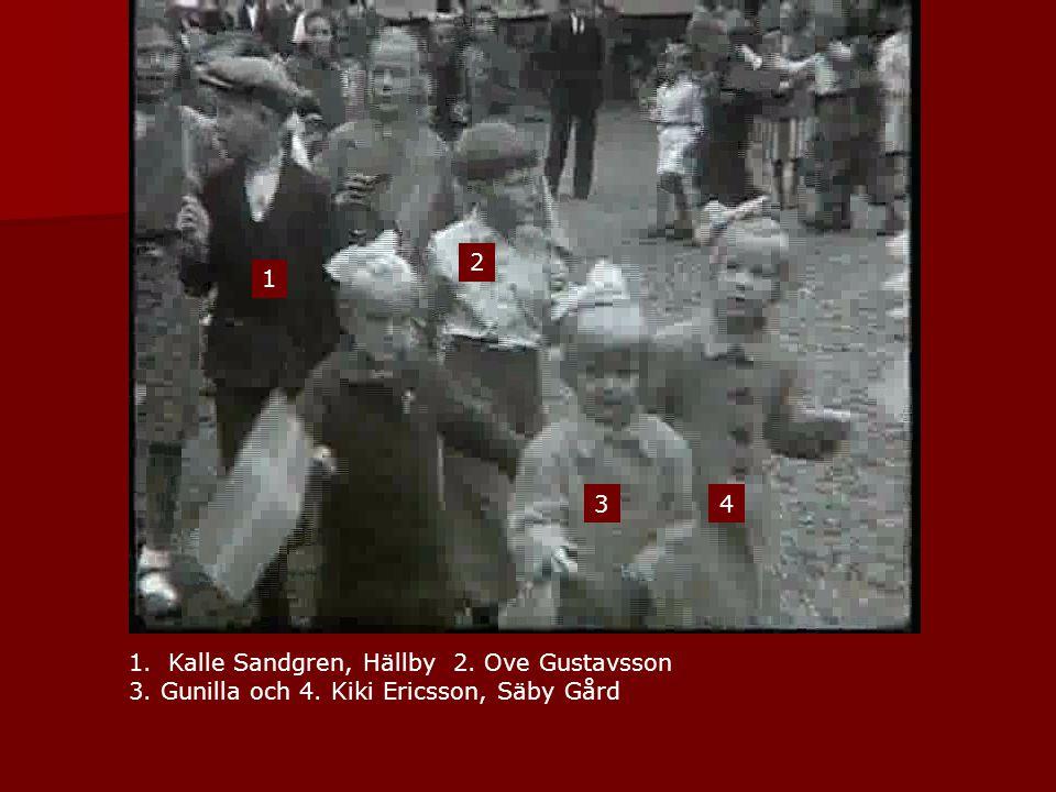 1 1.Kalle Sandgren, Hällby 2. Ove Gustavsson 3. Gunilla och 4. Kiki Ericsson, Säby Gård 2 34
