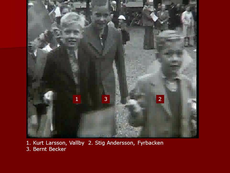 1. Kurt Larsson, Vallby 2. Stig Andersson, Fyrbacken 3. Bernt Becker 123