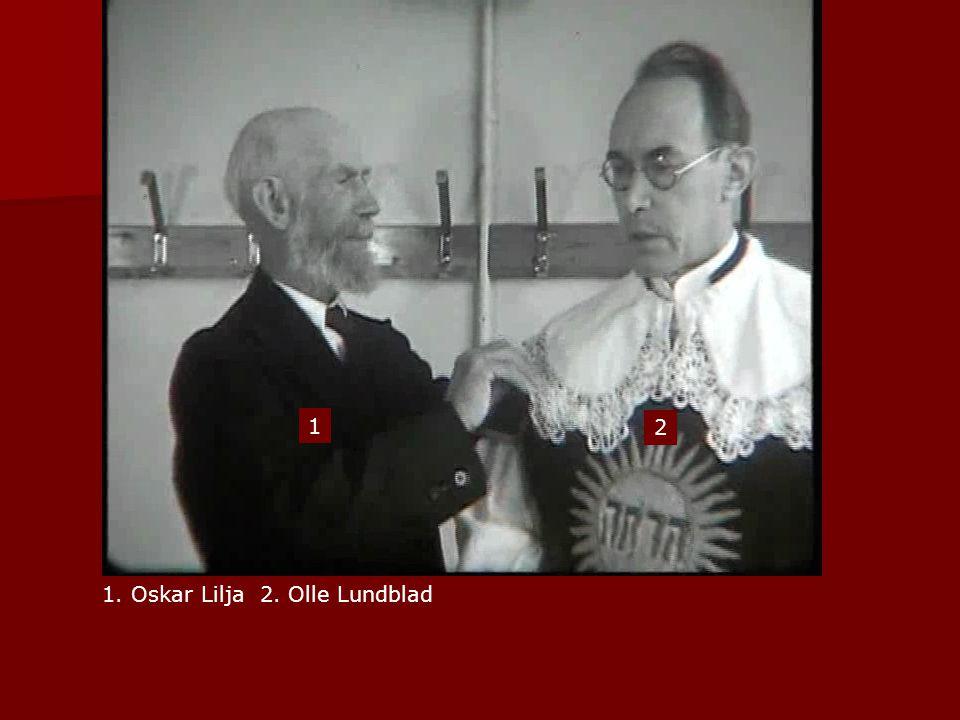 1. Oskar Lilja 2. Olle Lundblad 1 2