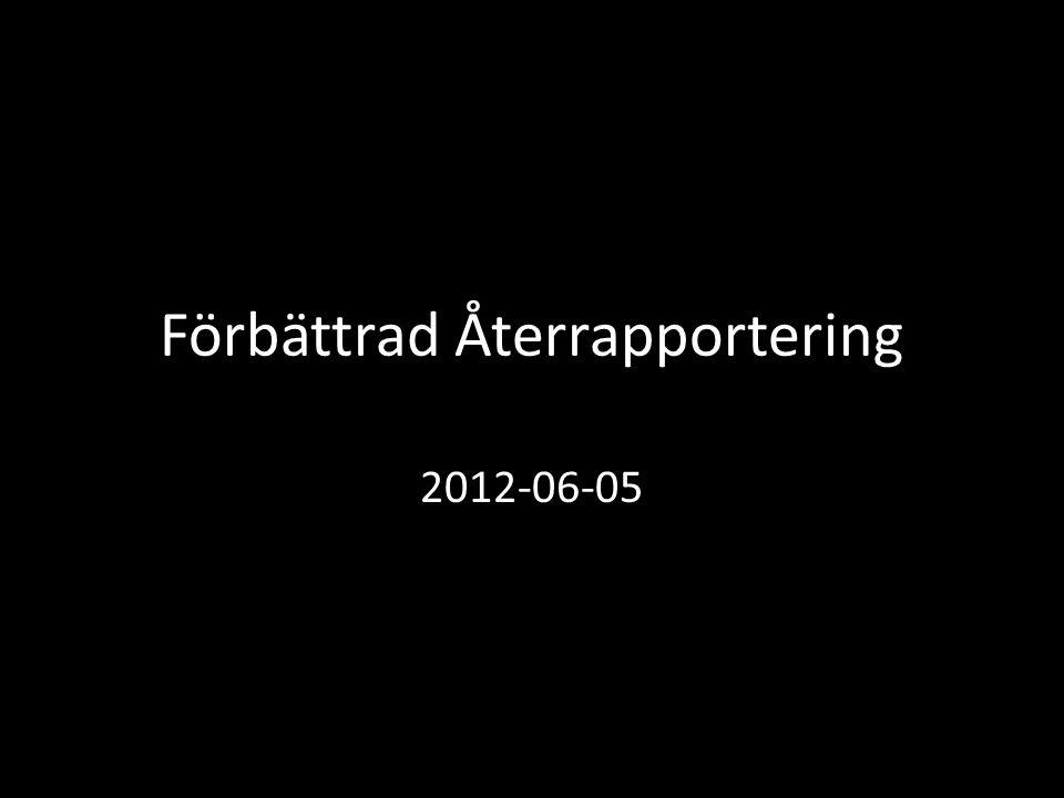 Förbättrad Återrapportering 2012-06-05