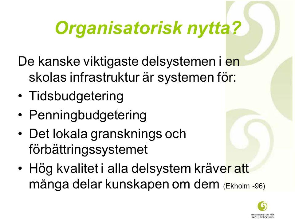 Organisatorisk nytta.