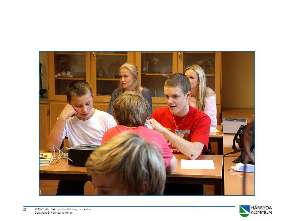 20 2010-01-26 Sektorn för utbildning och kultur Copyright © Härryda kommun