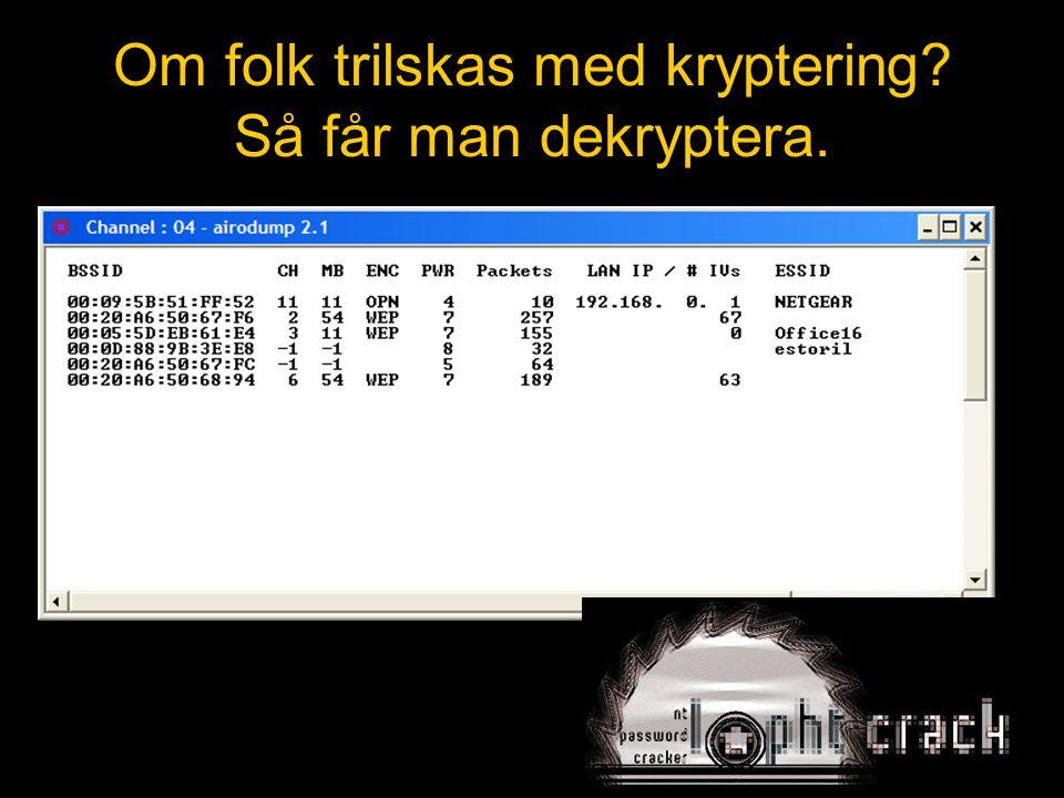 Om folk trilskas med kryptering Så får man dekryptera.