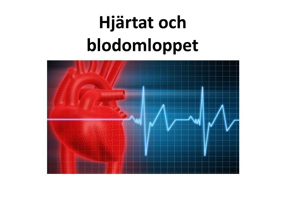 Blodpropp (infarkt) Något fastnar i blodkärlet och stoppar blodflödet, med syrebrist som följd.