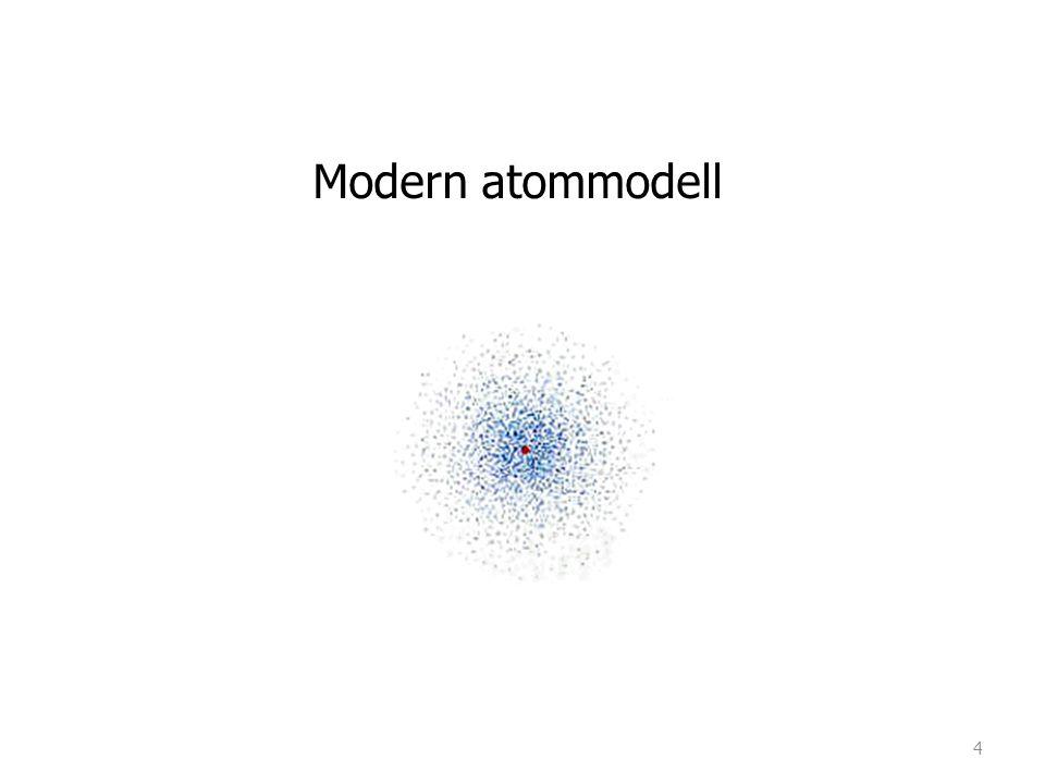 En atom ä r uppbyggd av bl.a elektroner som kretsar runt atomens k ä rna i best ä mda banor.