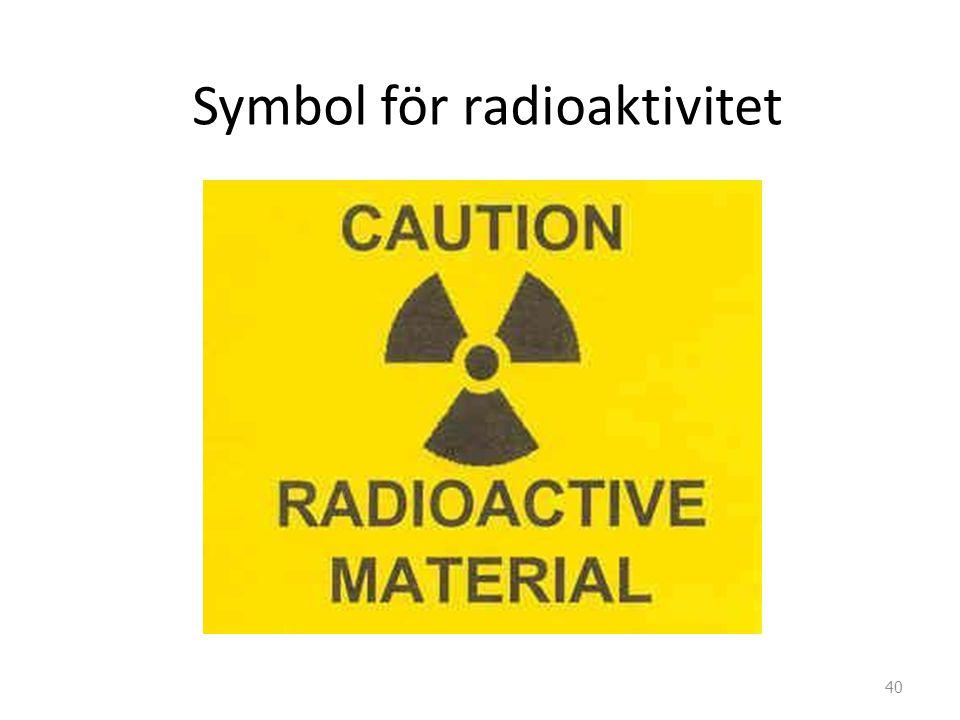 Symbol för radioaktivitet 40