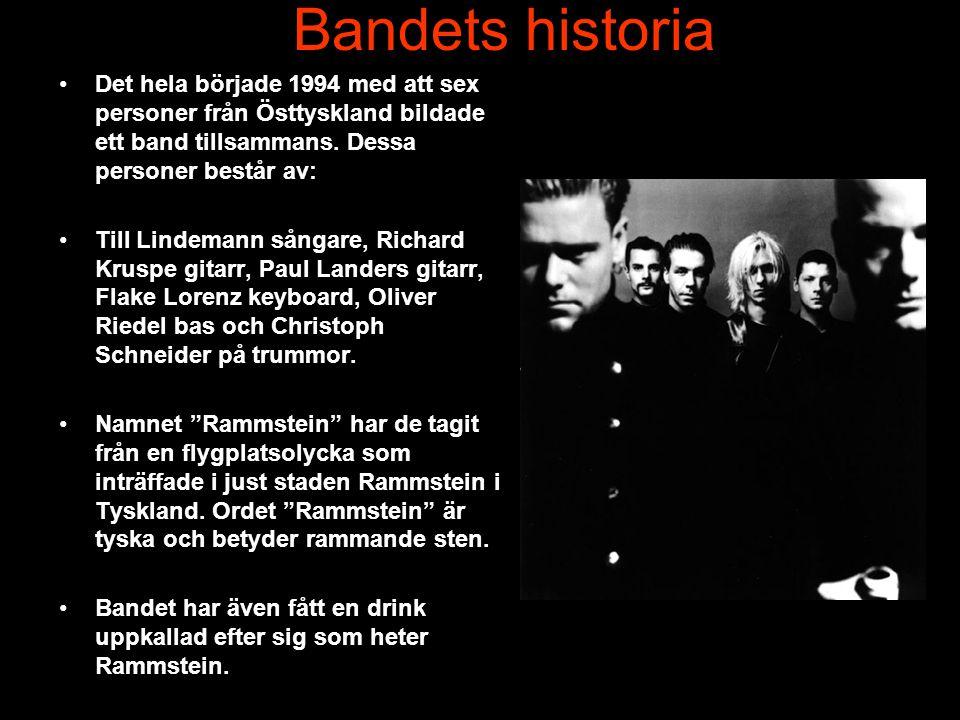 Bandets historia •Det hela började 1994 med att sex personer från Östtyskland bildade ett band tillsammans.