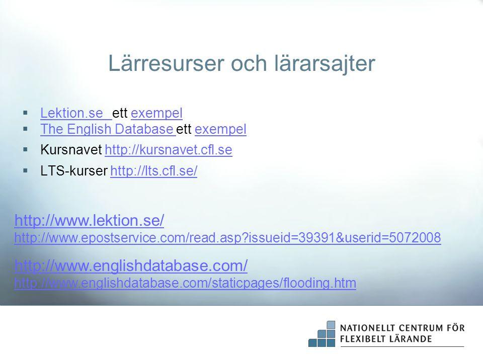 Digitala lärresurser på Kursnavet Kursnavet är en databas med webbaserade lärresurser – ett bibliotek på Internet med digitalt utbildningsmaterial