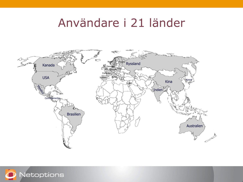 Användare i 21 länder