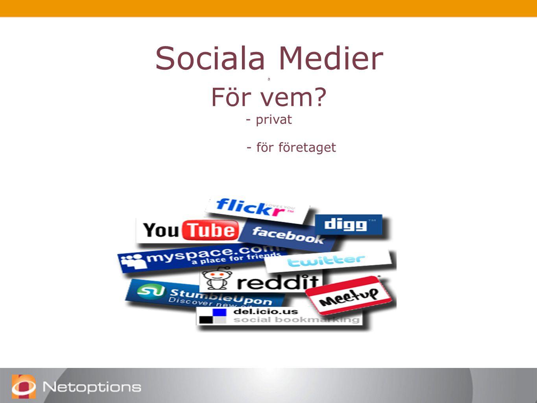 Sociala Medier a För vem - privat - för företaget