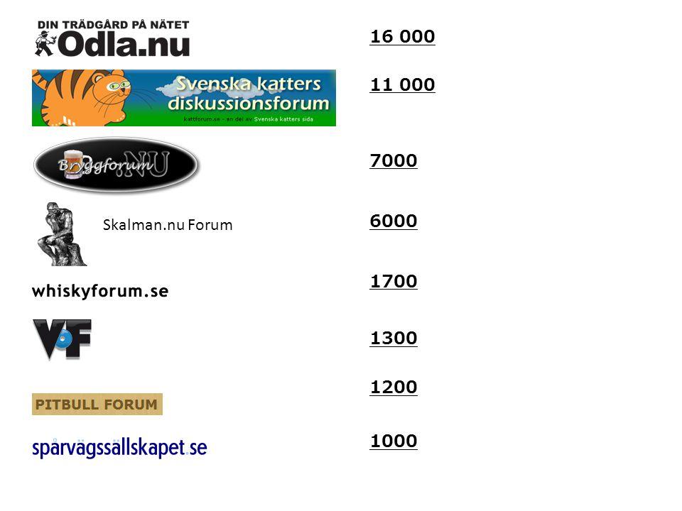 16 000 1000 11 000 1300 1700 6000 Skalman.nu Forum 1200 7000