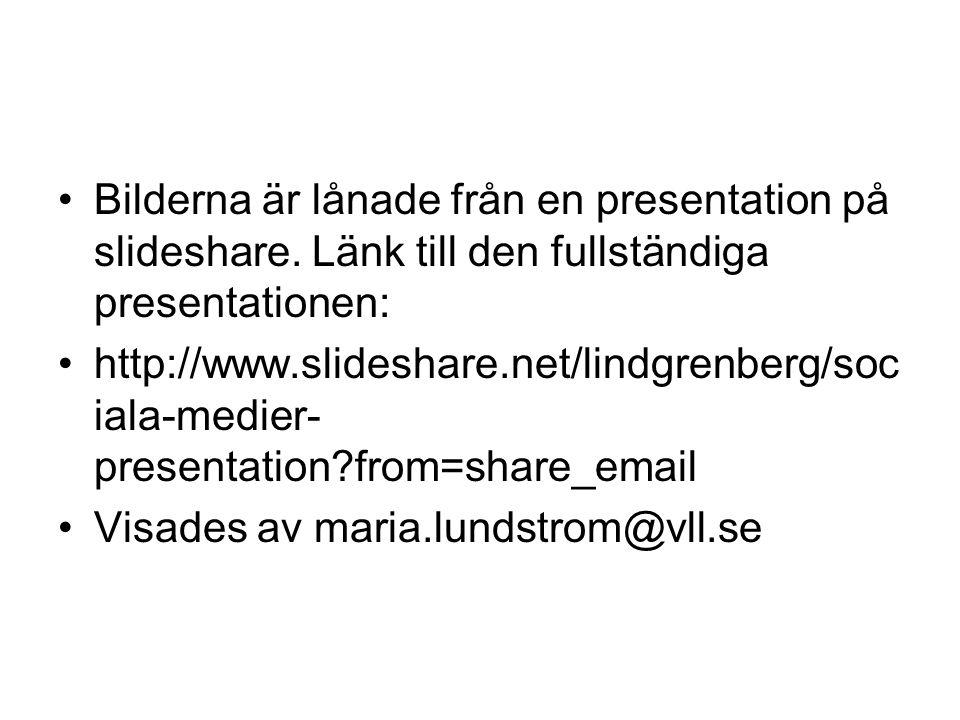 •Bilderna är lånade från en presentation på slideshare.
