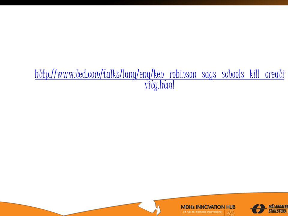 http://www.ted.com/talks/lang/eng/ken_robinson_says_schools_kill_creati vity.html