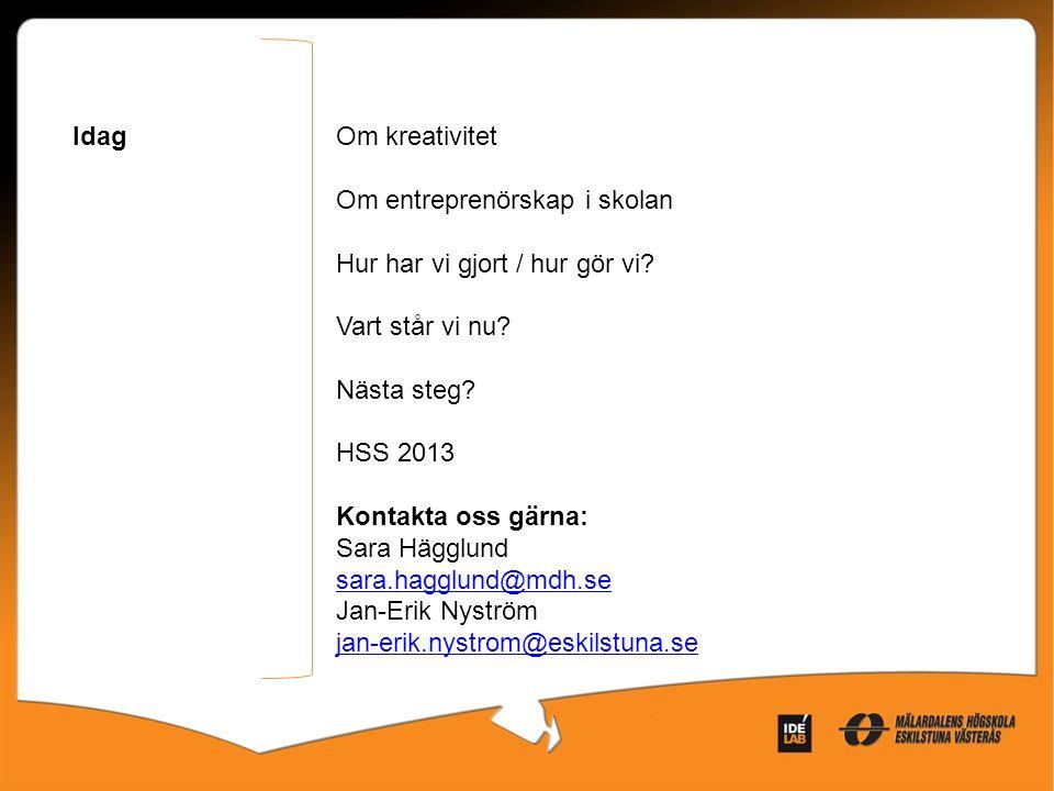 Entreprenörskap Ett svårt ord med självklart innehåll /Ingela Bursjö Montessorilärare Buråsskolan Göteborg