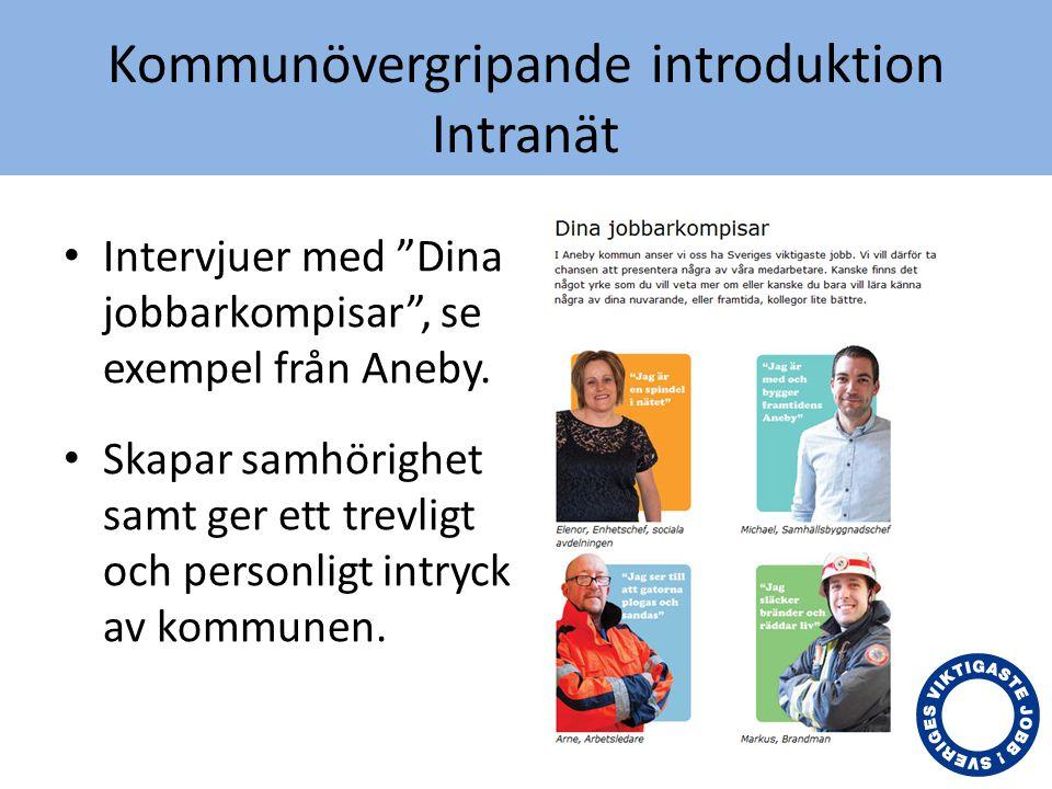 Kommunövergripande introduktion Intranät, filmen Nässjö kommuns introduktionsfilm om tex.