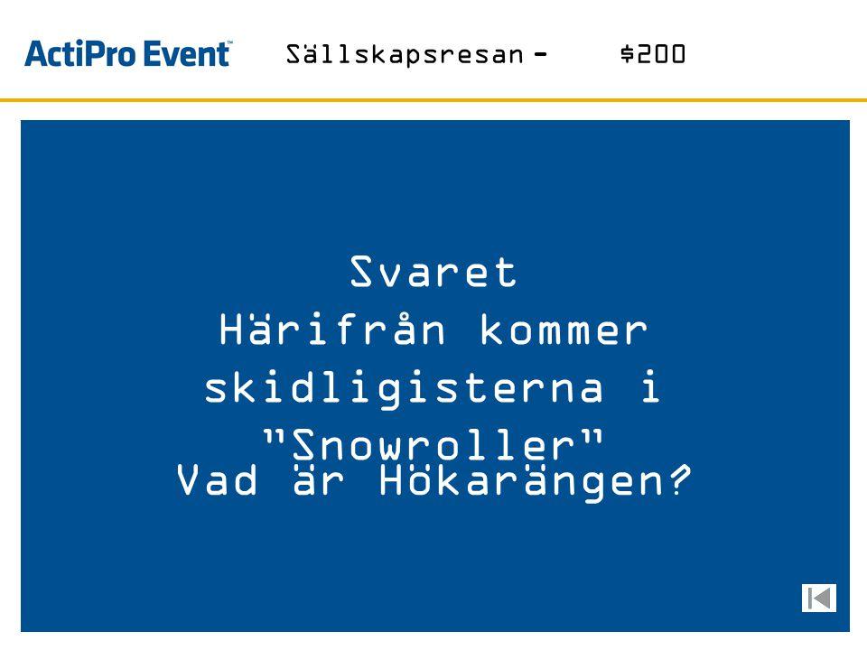 Svaret Företaget som Peter Hunt är koncernchef För med över 1000 anställda Vad är Trading House? Norrköping-$1000
