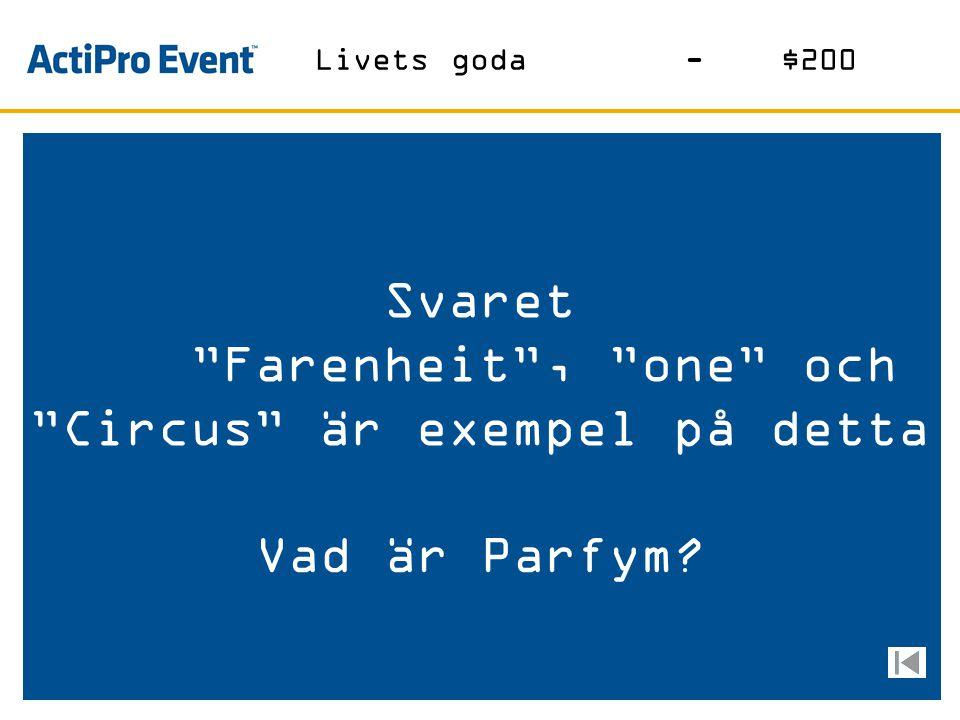 Svaret Denna artist vann Eurovision Song Contest detta år Vem är............. ? Musik-$1000