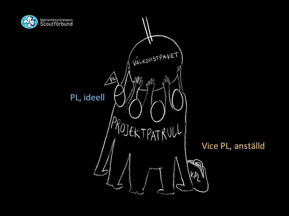PL, ideell Vice PL, anställd