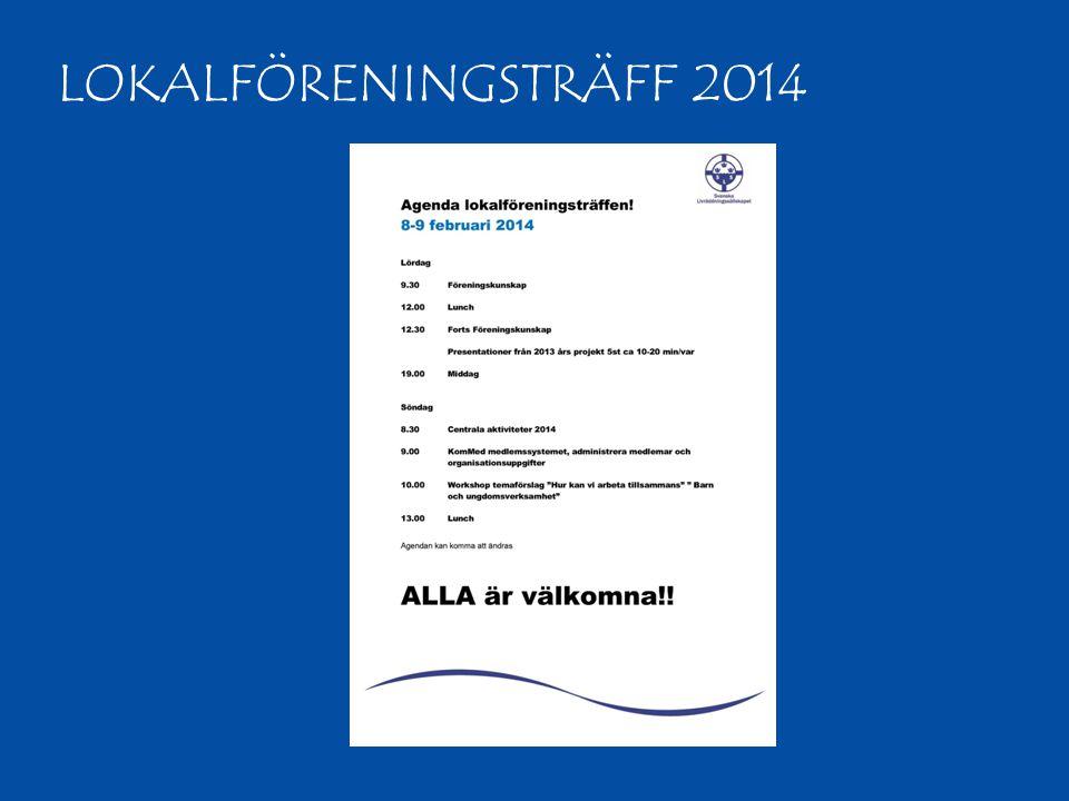 LOKALFÖRENINGSTRÄFF 2014