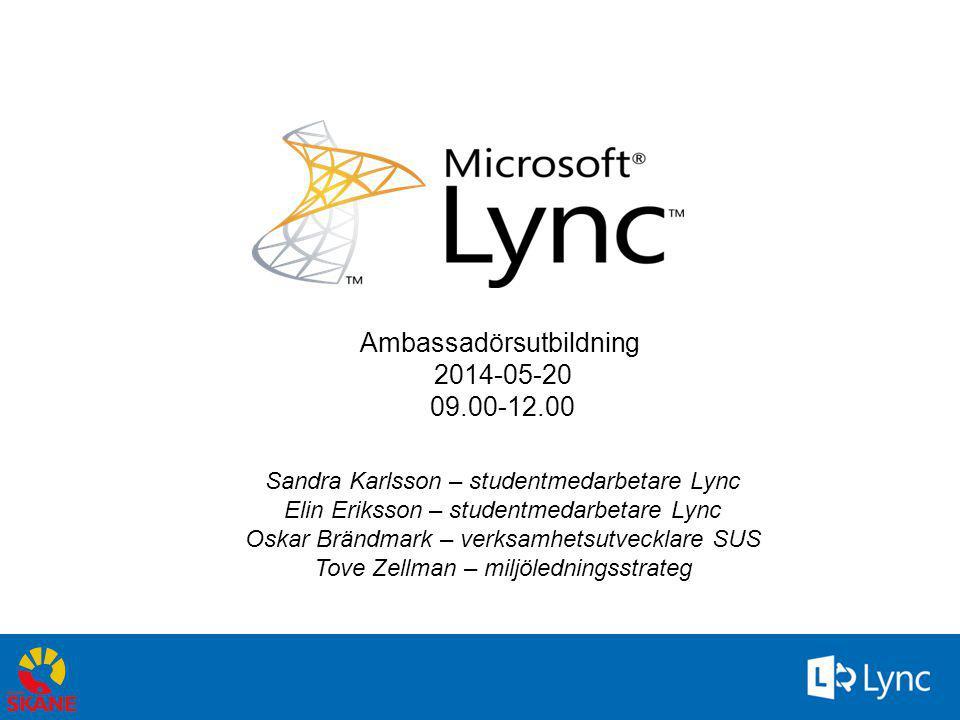12 En titt på Lync 2010…