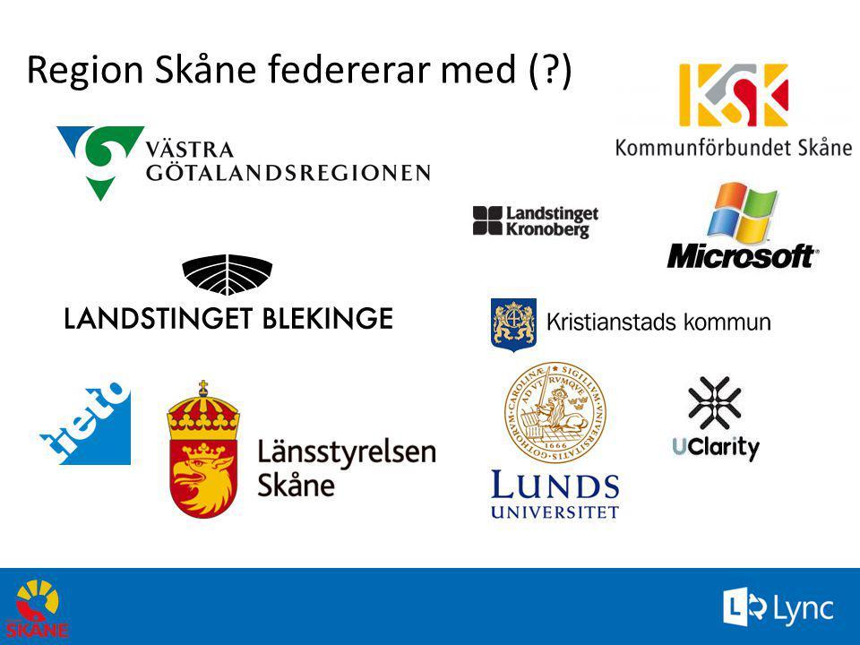 15 Region Skåne federerar med (?)