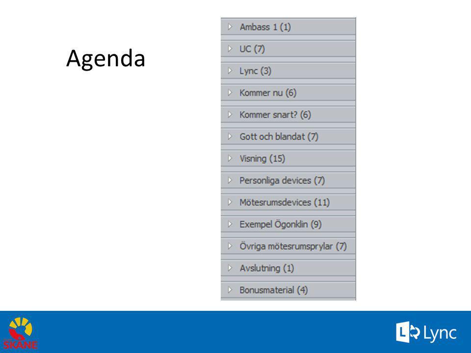Nytt i Lync • Plattor, smartphones (Appar för iOS, android och windows finns.) Utifrån och inne i vårt nät.