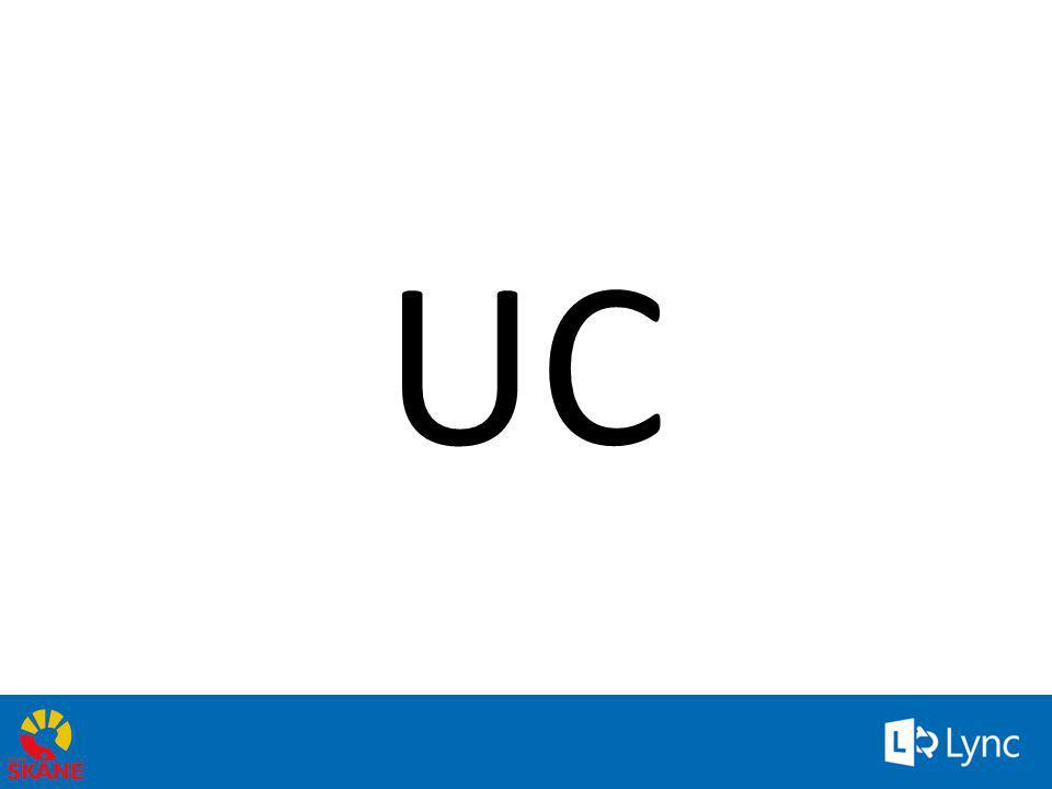 Gartner: (http://www.gartner.com)http://www.gartner.com Unified Communications (UC) erbjuder dig möjlighet att avsevärt förbättra hur individer, grupper och företag samverkar och presterar.