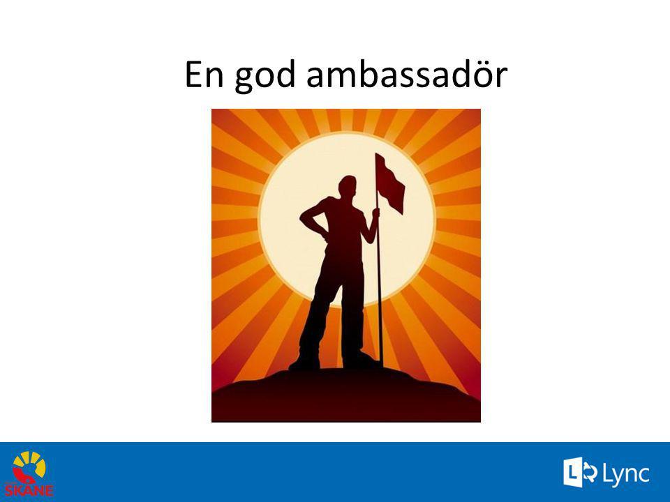 32 En god ambassadör