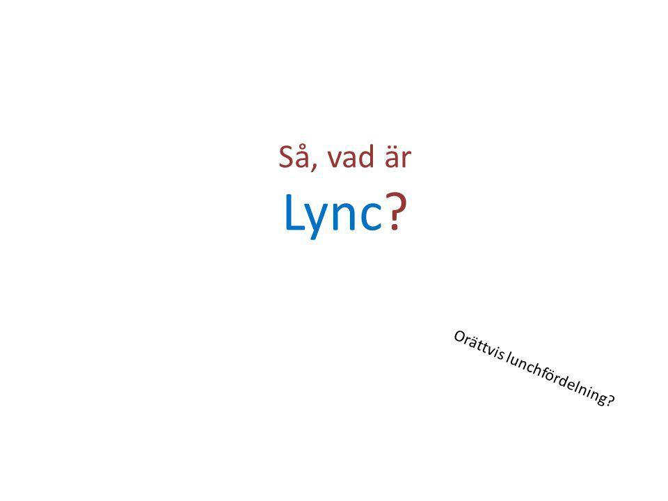 Så, vad är Lync? Orättvis lunchfördelning?