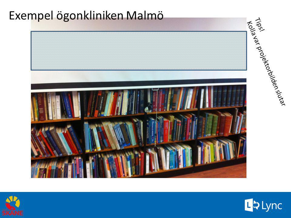 Tips! Kolla var projektorbilden slutar Exempel ögonkliniken Malmö 69