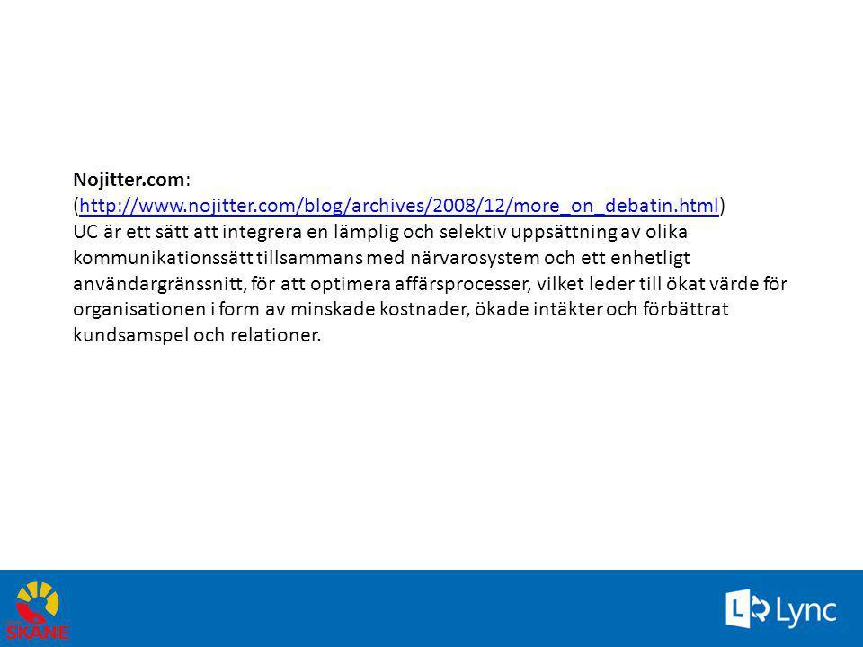 Statistik användning April 2013 • Ca 2000 medarbetare har Lync • 9283 chattkonversationer • 1758 Lync-samtal – ca 10 min/st • 541 Lync-konferenser – ca en halvtimme/st April 2013 • www.skane.se/Lync www.skane.se/Lync
