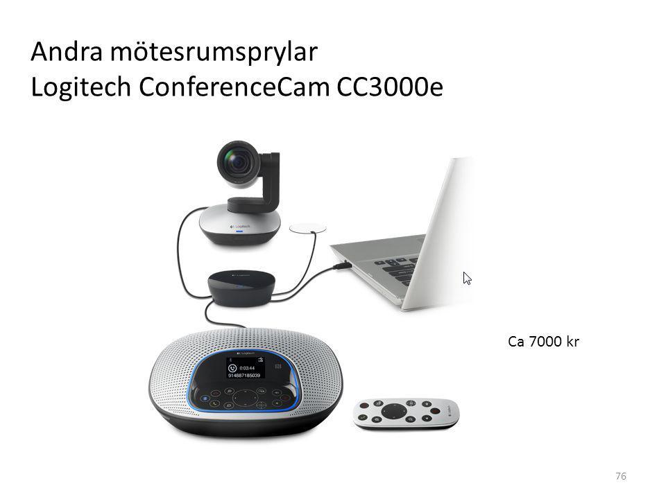 76 Andra mötesrumsprylar Logitech ConferenceCam CC3000e Ca 7000 kr