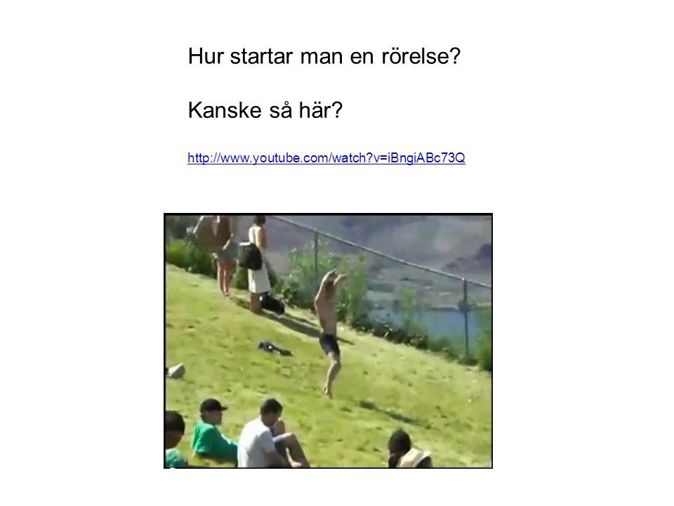 Hur startar man en rörelse? Kanske så här? http://www.youtube.com/watch?v=iBngiABc73Q