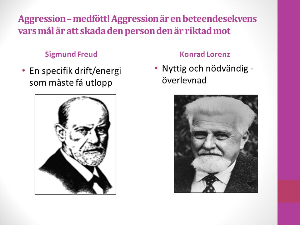 Aggression – medfött.