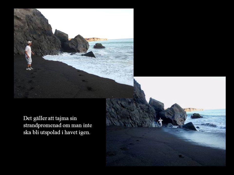 Det gäller att tajma sin strandpromenad om man inte ska bli utspolad i havet igen.
