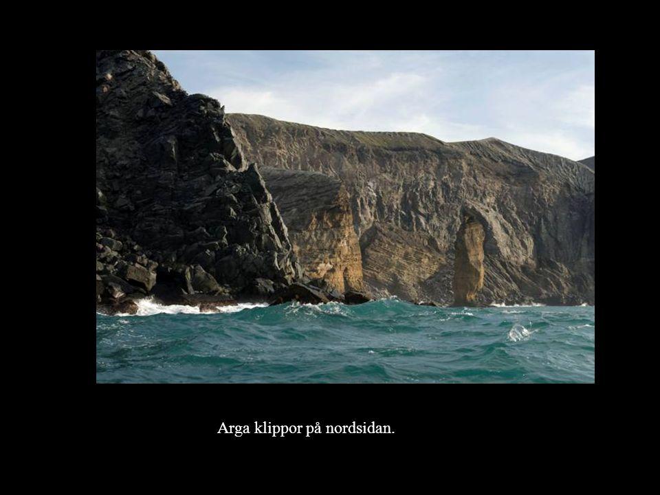 Arga klippor på nordsidan.