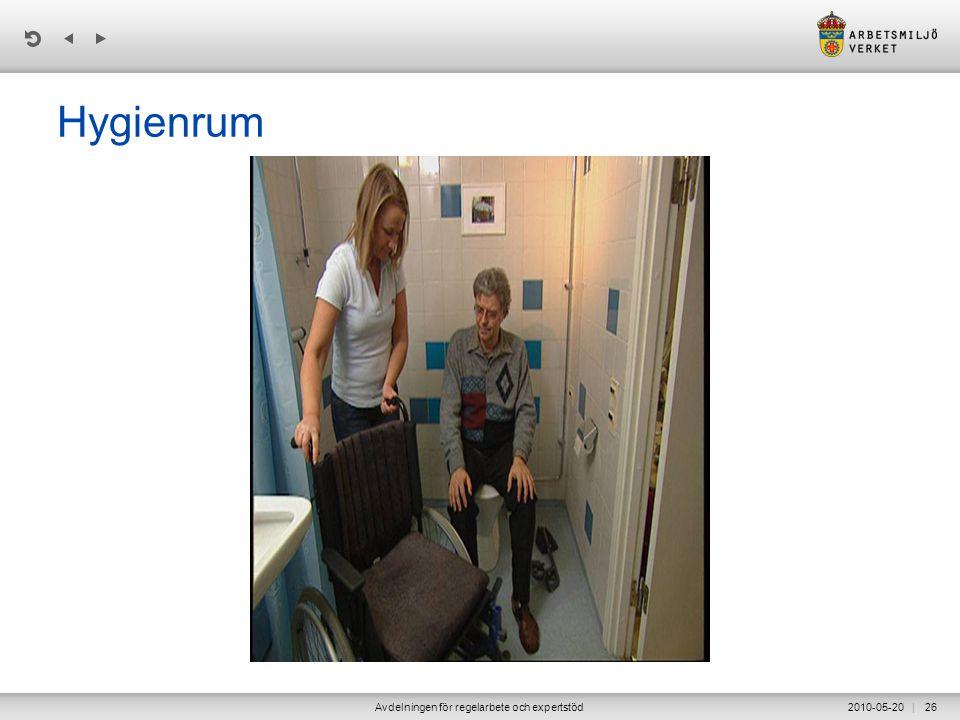 | 2010-05-20Avdelningen för regelarbete och expertstöd26 Hygienrum